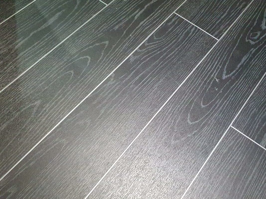 One of our grey laminate floors